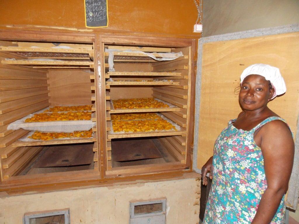 Trockenmango-Ofen in Burkina Faso